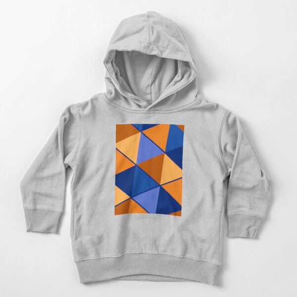 Triangles Blue Orange Mix Toddler Pullover Hoodie
