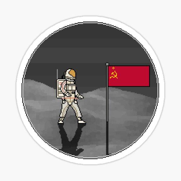 Soviet Moonlanding Sticker