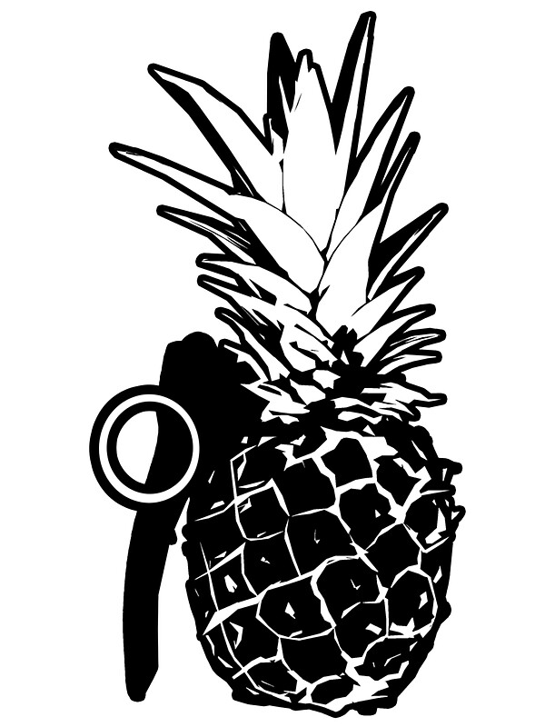 """Pineapple Grenade"" Stickers by cadellin 