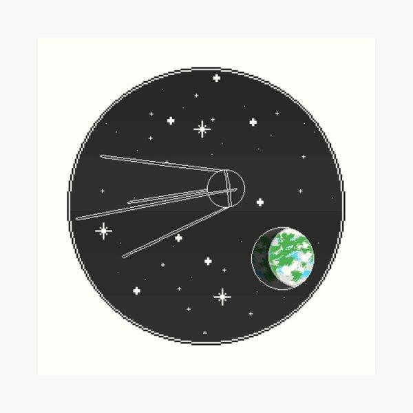 Soviet Satellite Heading to Exoplanet Art Print