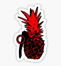 Pineapple Grenade (Red) Sticker
