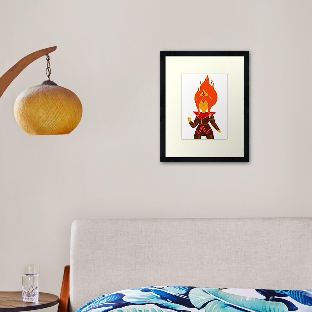 Flame Princess Framed Art Print