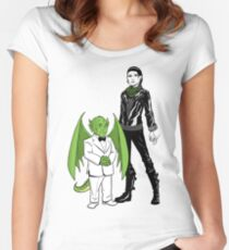 The Girl With the Dragon Tattoo Women's Fitted Scoop T-Shirt