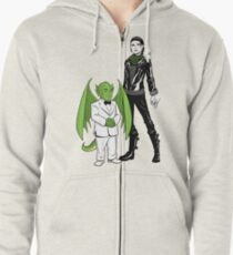 The Girl With the Dragon Tattoo Zipped Hoodie