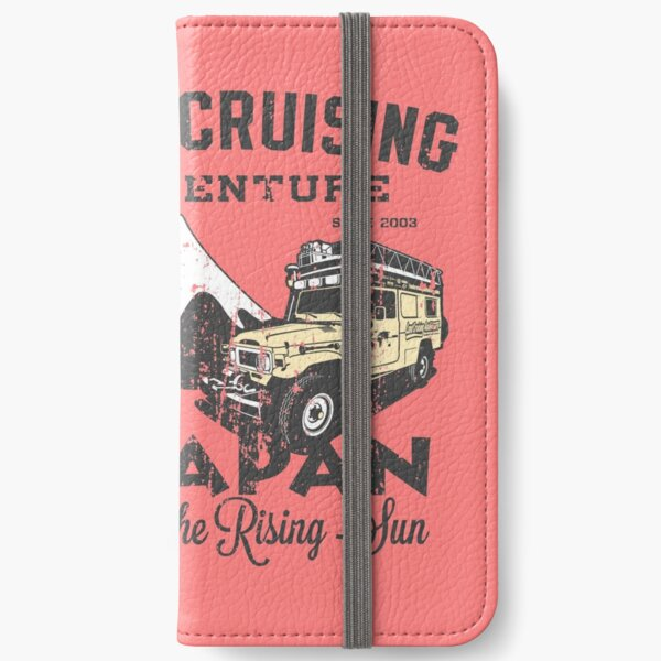 Landcruising Adventure in Japan - Straight font edition iPhone Wallet