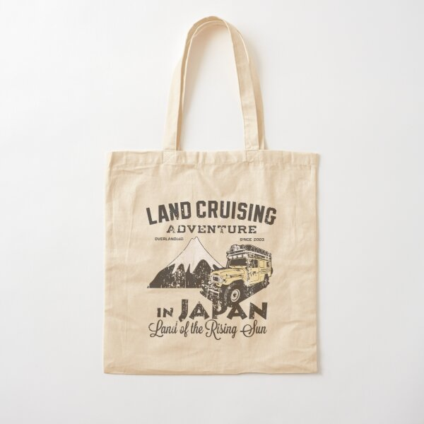 Landcruising Adventure in Japan - Straight font edition Cotton Tote Bag