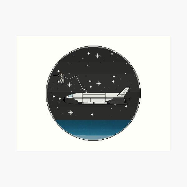 Space Plane with Orbital Sniper Art Print