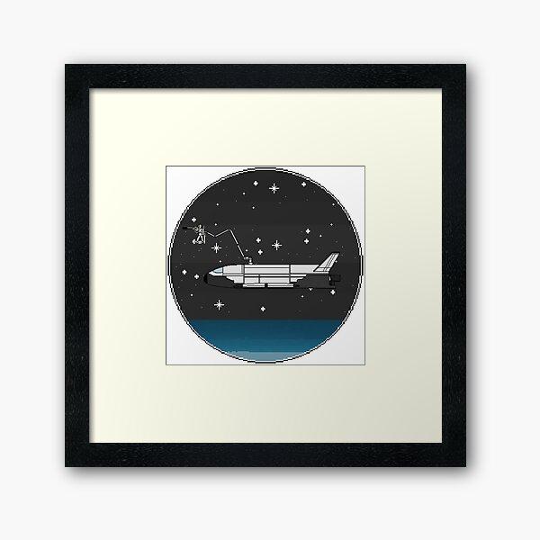Space Plane with Orbital Sniper Framed Art Print