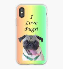 Cute I Love Pugs iPhone, iPod or iPad Case iPhone Case