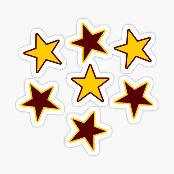 Garnet and Gold Stars Sticker