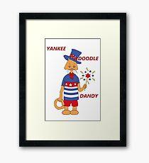 Yankee Doodle Kitty Framed Print