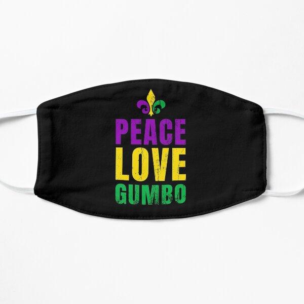 Mardi Gras 2019 - Peace, Love & Gumbo! Flat Mask