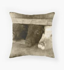 3 little pigs Throw Pillow
