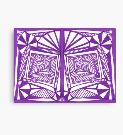 Purple Pattern Proposed 4 Picture Portal Canvas Print