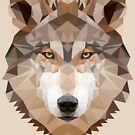 Intense Low Poly Wolf by digerati