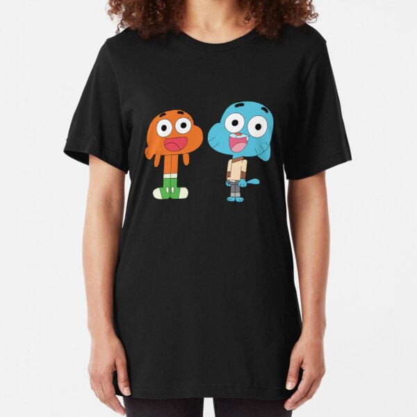 The amazing world of Gumball™, Gumball and Darwin Slim Fit T-Shirt