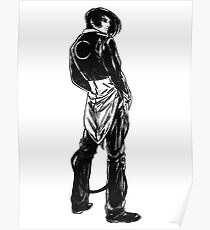 Iori Yagami noir Poster