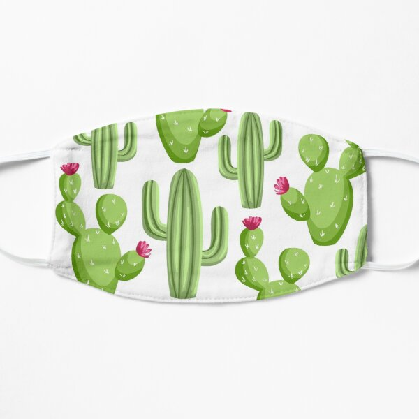 bloom daily planners cacti Flat Mask