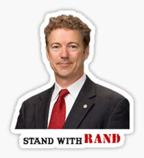 Stand with Rand design Sticker
