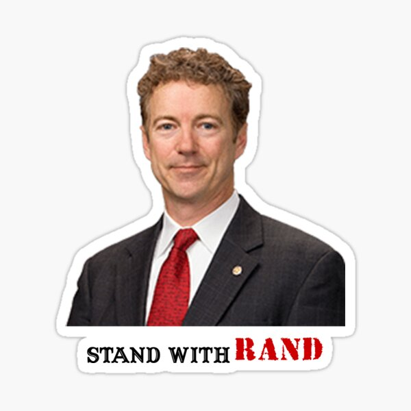 Stand with Rand design Sticker