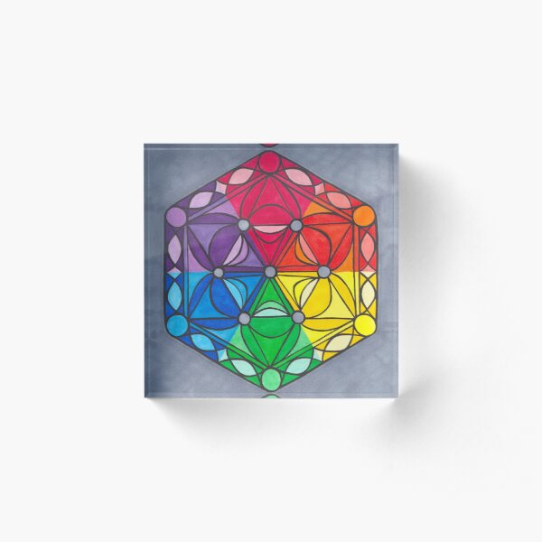 Mike Color Wheel Acrylic Block