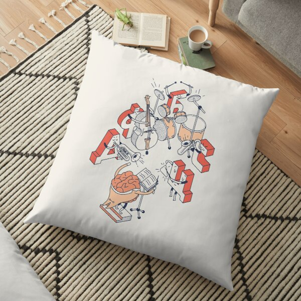 Letters orchestra Floor Pillow