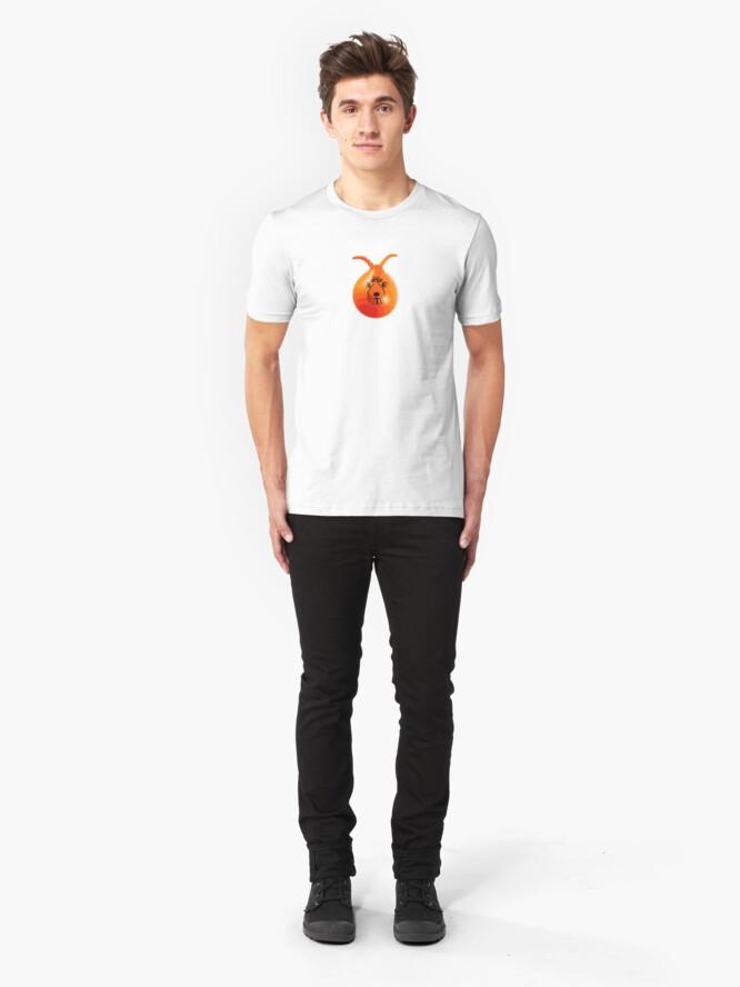 Alternate view of Retro 8-bit Space Hopper Slim Fit T-Shirt