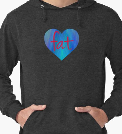 Love Fat (Blue and Red) Lightweight Hoodie