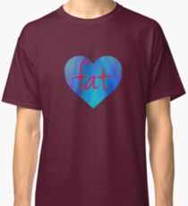 Love Fat (Blue and Red) Classic T-Shirt