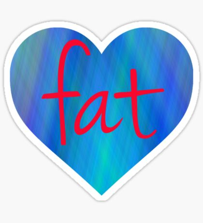 Love Fat (Blue and Red) Sticker