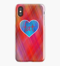 Love Fat (Blue and Red) iPhone Case/Skin
