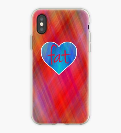 Love Fat (Blue and Red) iPhone Case