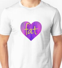Love Fat (Purple and Yellow) Unisex T-Shirt