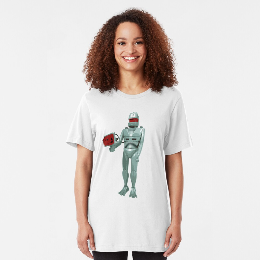 ROM the space knight - retro Action Man (or GI Joe) toy 8-bit style Slim Fit T-Shirt