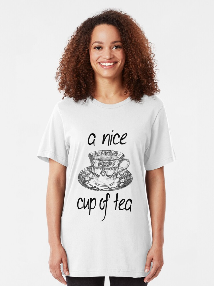 Alternate view of A Nice Cup of Tea Slim Fit T-Shirt