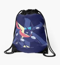 Greninja with Water Kanji Drawstring Bag
