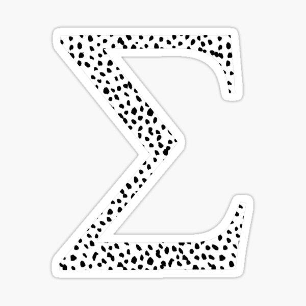 Sigma Dalmatian Letter Sticker