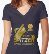 10th Anniversary of the Spitzer Space Telescope Women's Fitted V-Neck T-Shirt
