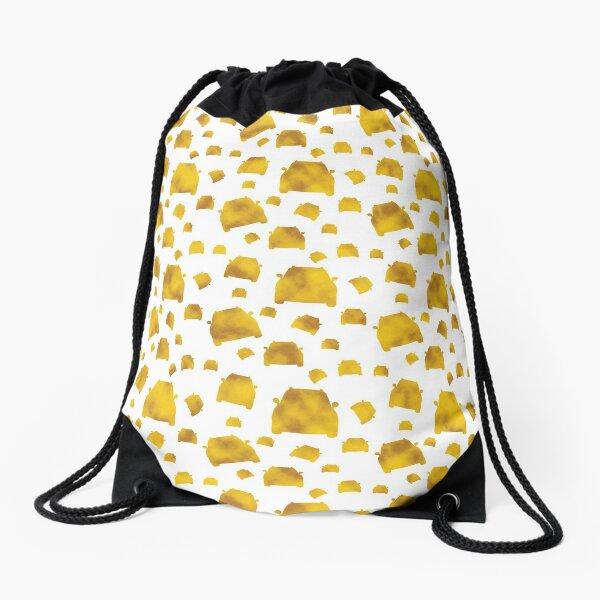 Cars, Yellow on White Drawstring Bag