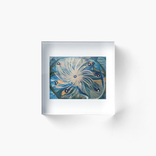 Blue Mandala Acrylic Block