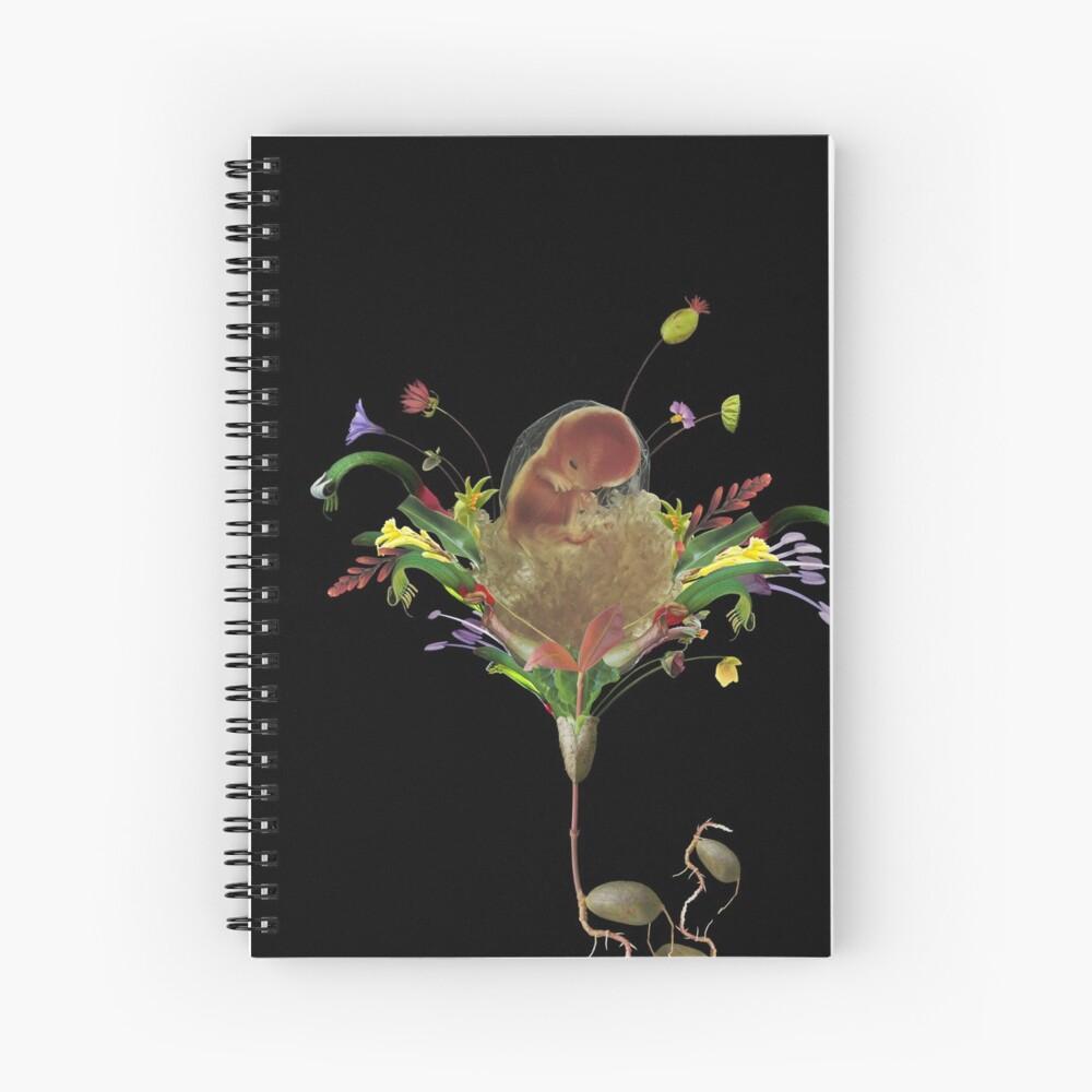 A New Birth - collage art, flower, nature, woman, man Spiral Notebook
