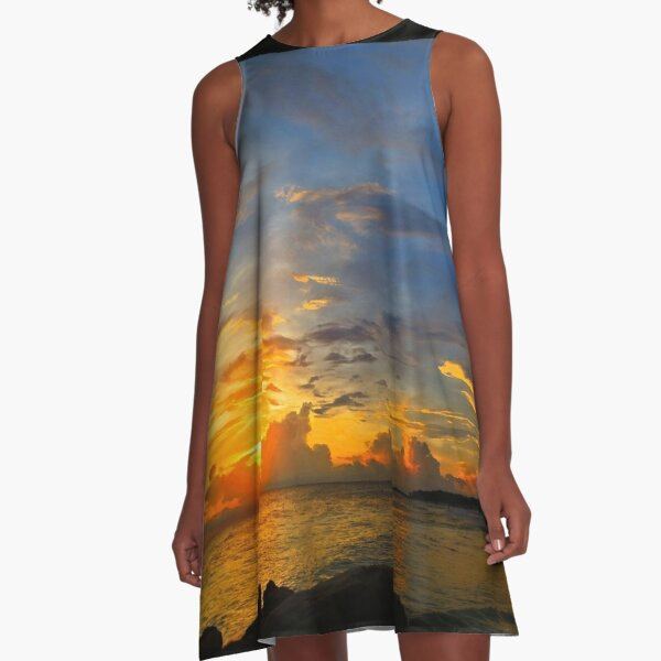 Sunset In Paradise - Beach Photography by Sharon Cummings A-Line Dress