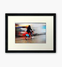 Boris Bike 2 ( Blurred Series) Framed Print