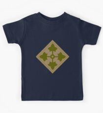 Fourth Infantry Division Insignia Kids Tee