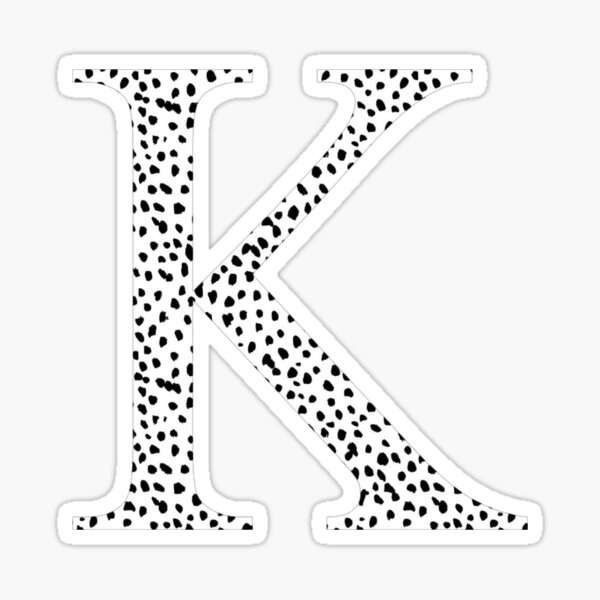 K - Kappa Dalmatian Letter Sticker