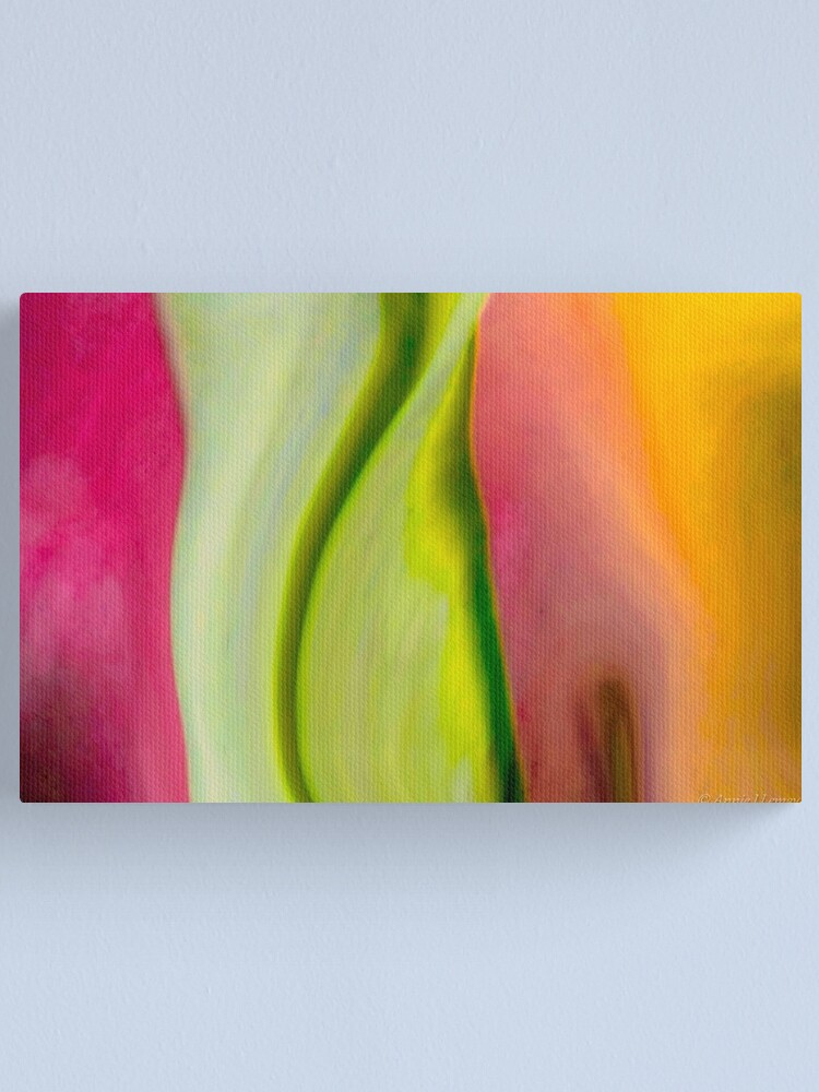 Alternate view of Raeleen's Abstract Canvas Print