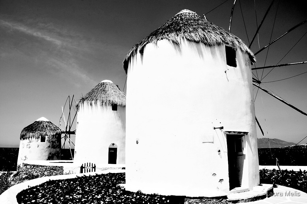 The windmills of Mykonos by Laura Melis