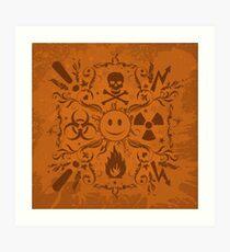 Hazardous Life (Orange version) Art Print