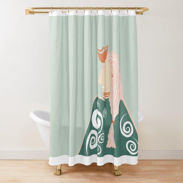 The Badass Queen Shower Curtain