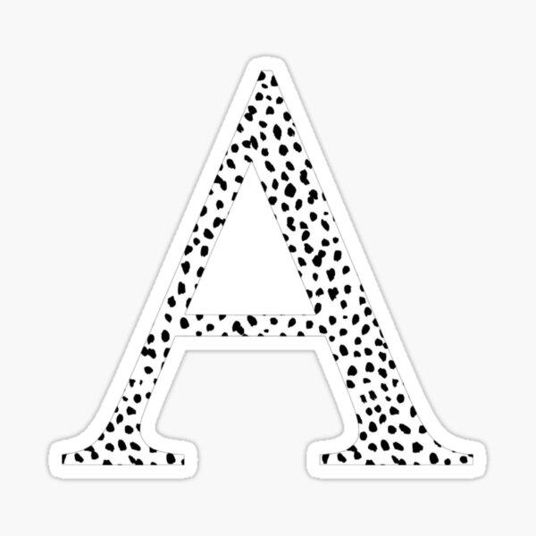 A - Alpha Dalmatian Letter Sticker
